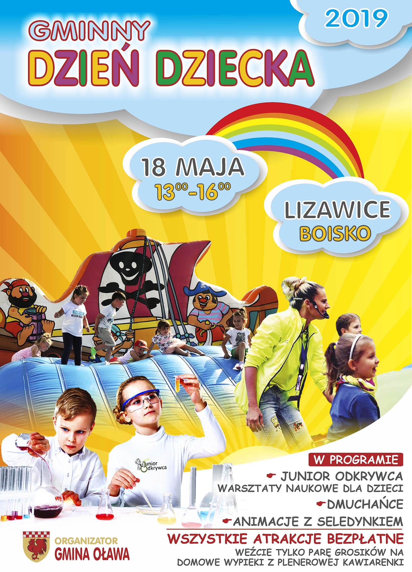 Gminny Dzien Dziecka 18 Maja Lizawice Gmina Olawa